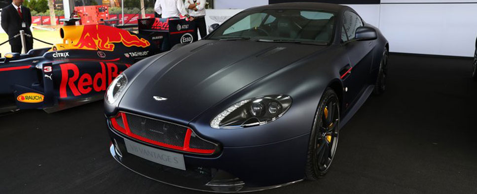 Aston Martin V8 VANTAGE S RBR and DB11 showcased at Australian Formula 1 Grand Prix.
