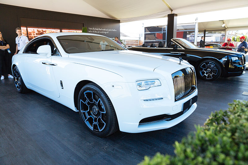 rolls royce vehicle display at the 2018 australian formula. Black Bedroom Furniture Sets. Home Design Ideas