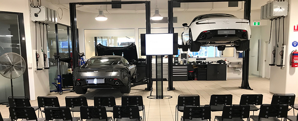 Aston Martin Melbourne Owners Service Workshop and Zagame Autobody Tour